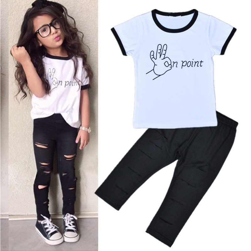 bc410c6b2 Trend Europe style Special design girls clothing sets fashion ...