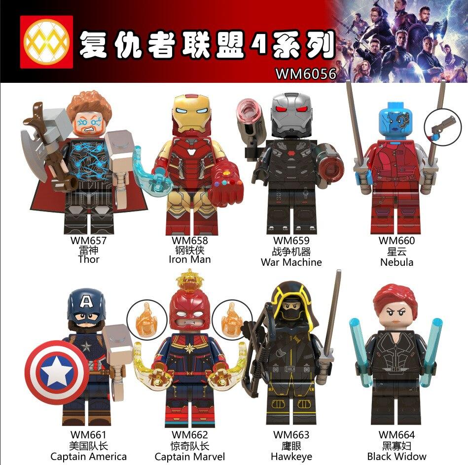 80p'c's WM6056 Avengers Endgame Thor marteau Iron Man Infinity gants Captain America jouets pour enfants-in Blocs from Jeux et loisirs    1