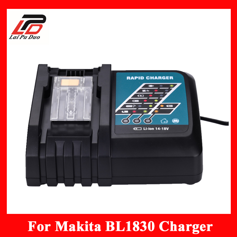 NEW Replacement Power tool battery charger for Makita BL1830 Bl1430 DC18RC DC18RA, 3.0A only for Lithuim ion dawupine dc18rct li ion battery charger 3a 6a charging current for makita 14 4v 18v bl1830 bl1430 dc18rc dc18ra power tool