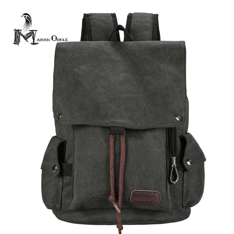 Vintage Korean canvas backpack casual travel canvas bag school backpack women and men backpack