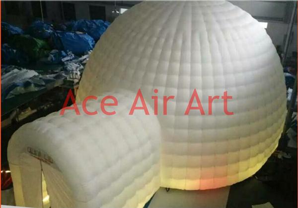 Iluminação da abóbada inflável iglu inflável agradável para o partido, evento