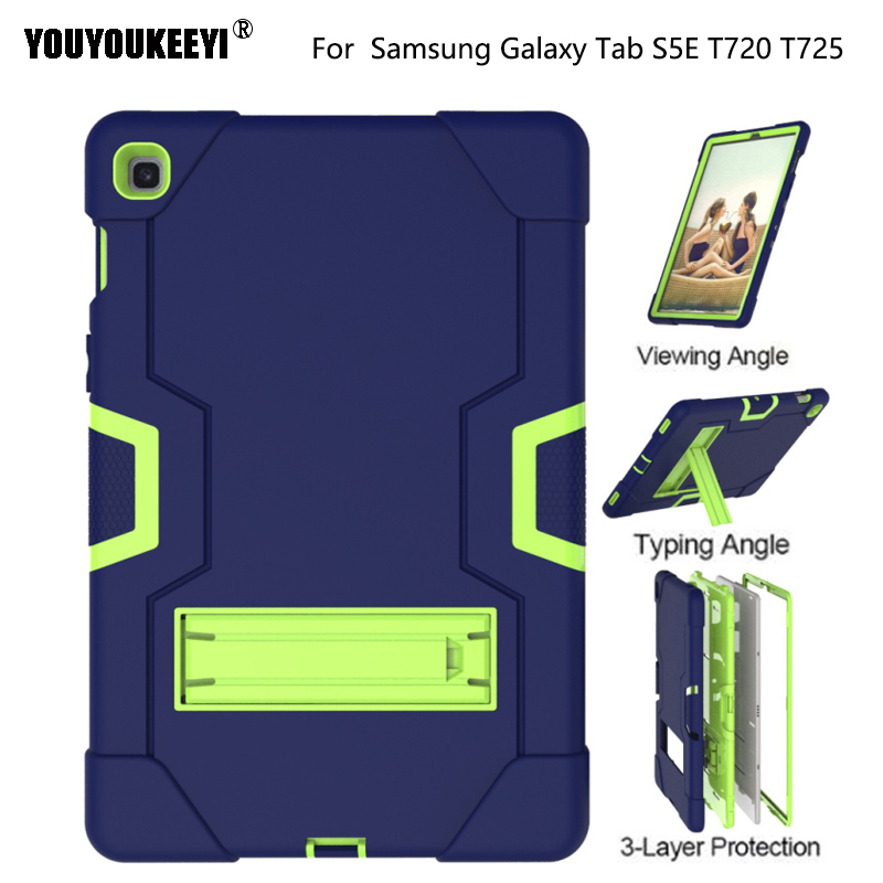 Kids Children Shockproof <font><b>Case</b></font> For Samsung Galaxy Tab s5e 10.5 2019 <font><b>T720</b></font> T725 tablet Hyun 2 in 1 silicone + PC back Cover image