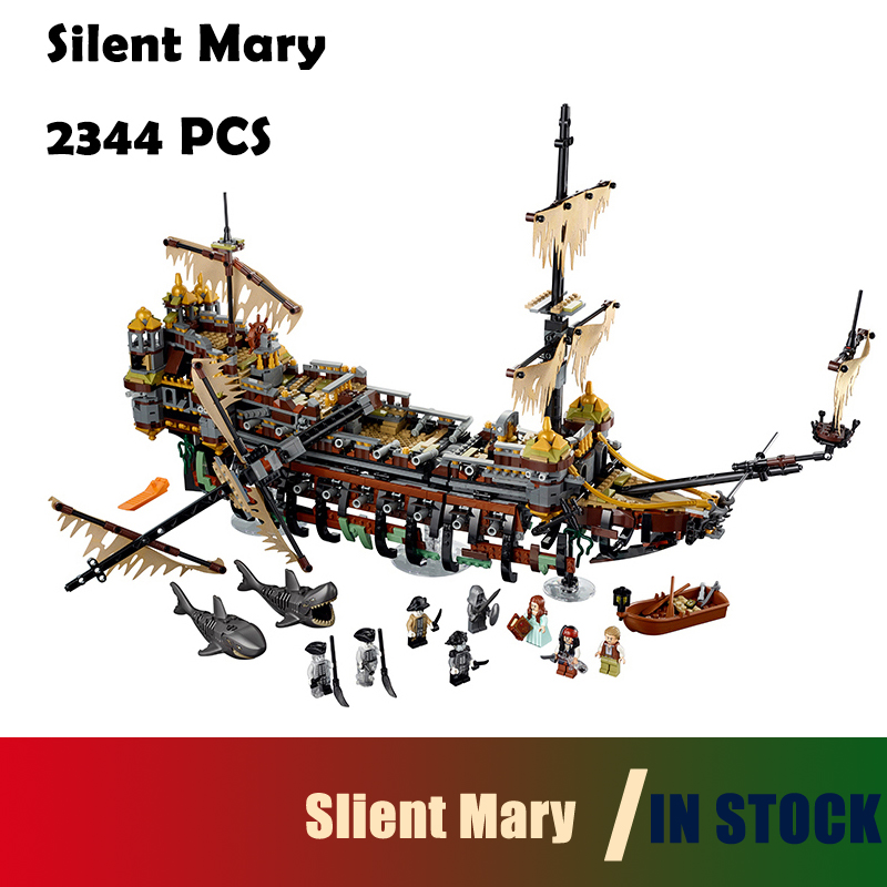 Compatible with lego Model Building Blocks toys 16042 2344PCS Slient Mary Pirate Series 71042 Educational DIY toys hobbies 2017 new 10680 2324pcs pirate ship series the slient mary set children educational building blocks model bricks toys gift 71042