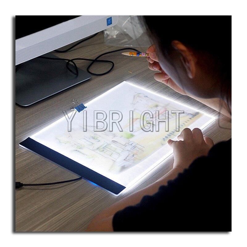 Pittura diamante A4 Punto Croce A4 HA CONDOTTO LA Luce di Pannello Elettroluminescente Tablet Ultrasottile 3.5mm Pad Si Applicano a EU/UK/AU/US Spina/USB YN