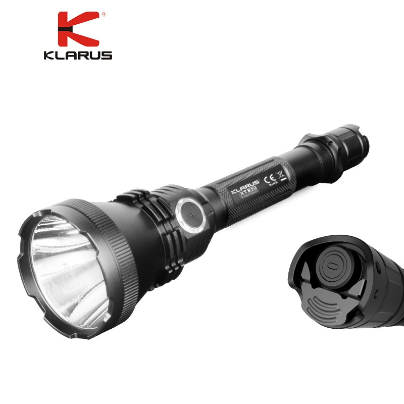 KLARUS XT32 CREE XP-L HI V3 LED Flashlight 1200lm max beam distance up to 1000 meters nitecore flashlight p30 cree xp l hi v3 led max 1000lm beam distance 618 meter led outdoor torch search light 2300mah battery