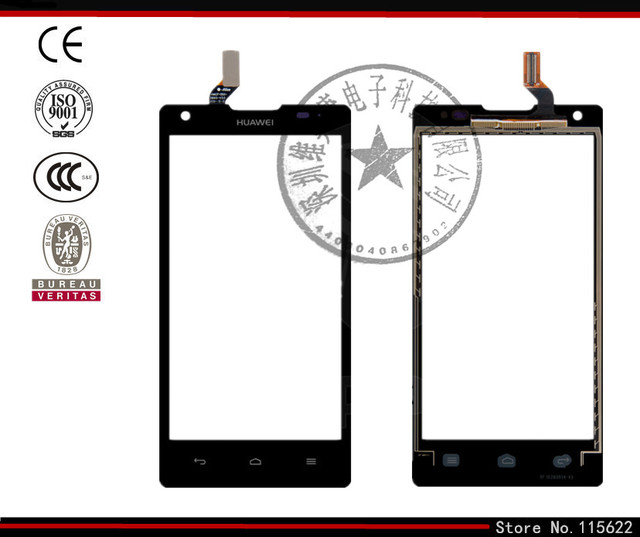 Touchscreen for Huawei Ascend G700-U10 Digitizer Glass Panel Front Glass Lens Sensor with Logo