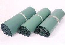 CAMMITEVER 100 шт. зеленая логистическая Курьерская сумка, сумка для курьерских конвертов, сумка для доставки почты, самоклеящийся пластиковый пакет