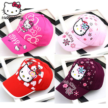 цена на Hello Kitty Summer Baby Girl Princess Hats Baby Boy And Girl 2019 Children's Cartoon hello kitty Cap Cute Outdoor Baseball Caps