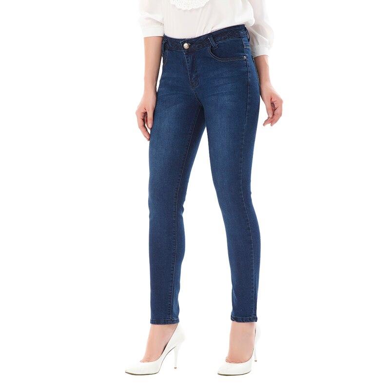 Women slim jeans lady mid waist blue elastic pencil pants tight jeans women s denim pants