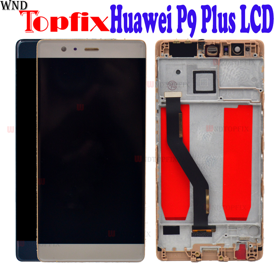 100 Tested 5 5 Huawei P9 Plus LCD Display Touch Screen Digitizer Panel Assembly For Huawei