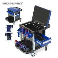 WORKPRO набор инструментов для ремонта автомобиля набор инструментов Рабочий стул Workbench сиденье