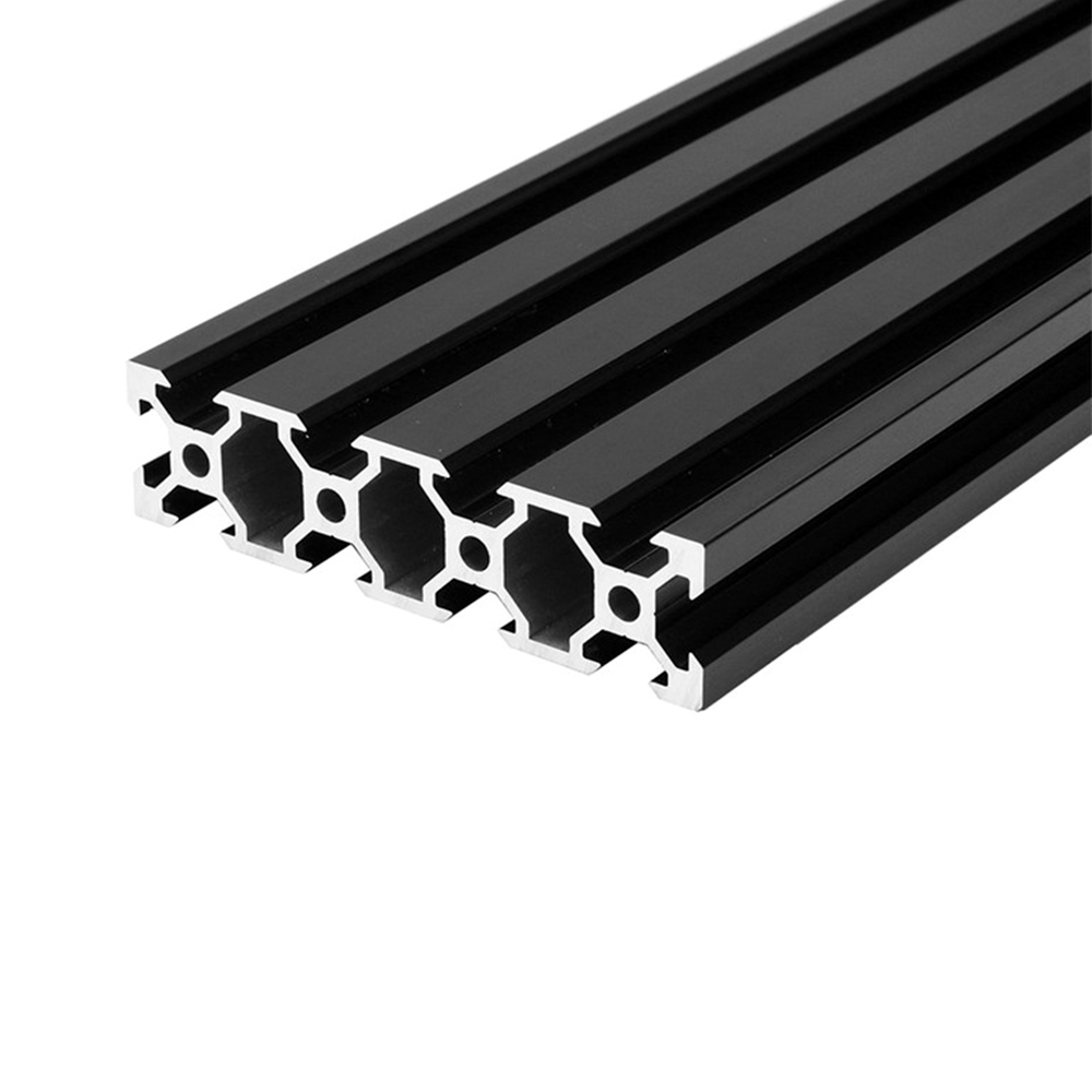 цена 1PC BLACK 2080 V-Slot European Standard Anodized Aluminum Profile Extrusion 100-800mm Length Linear Rail for CNC 3D Printer
