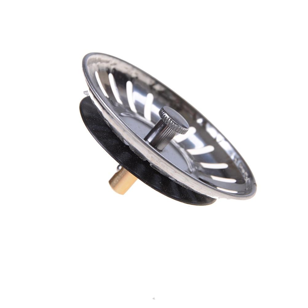 1pc Stainless Steel Kitchen Sink Strainer Stopper Waste Plug Sink Filter Bathroom Basin Sink Drain