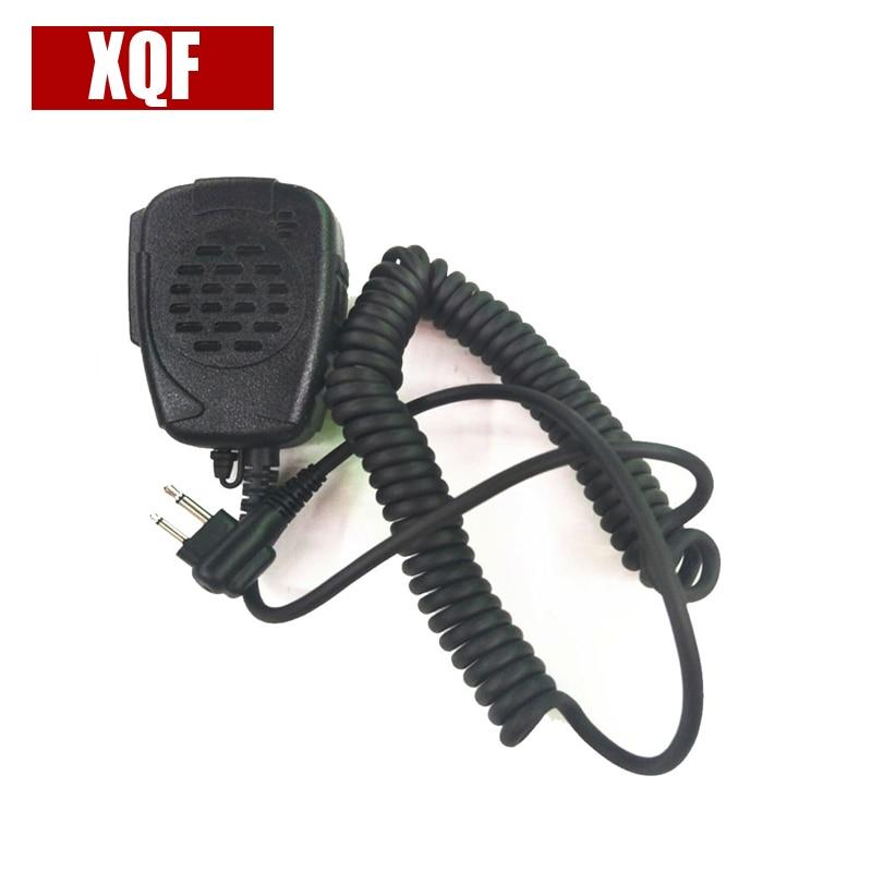 XQF 10PCS Walkie Talkie 2 Pin Handheld Speaker Microphone For Motorola Two Way Radio Radios GP68 GP88 GP88S GP3688 A8 A6 A10 A12