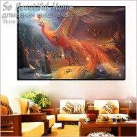 2016 Nowy 3D DIY Diament Malarstwo Złoty Feniks Ptak Rysunki zdjęcia Kryształy Mozaika Hobby Haft Rhinestone SF6141
