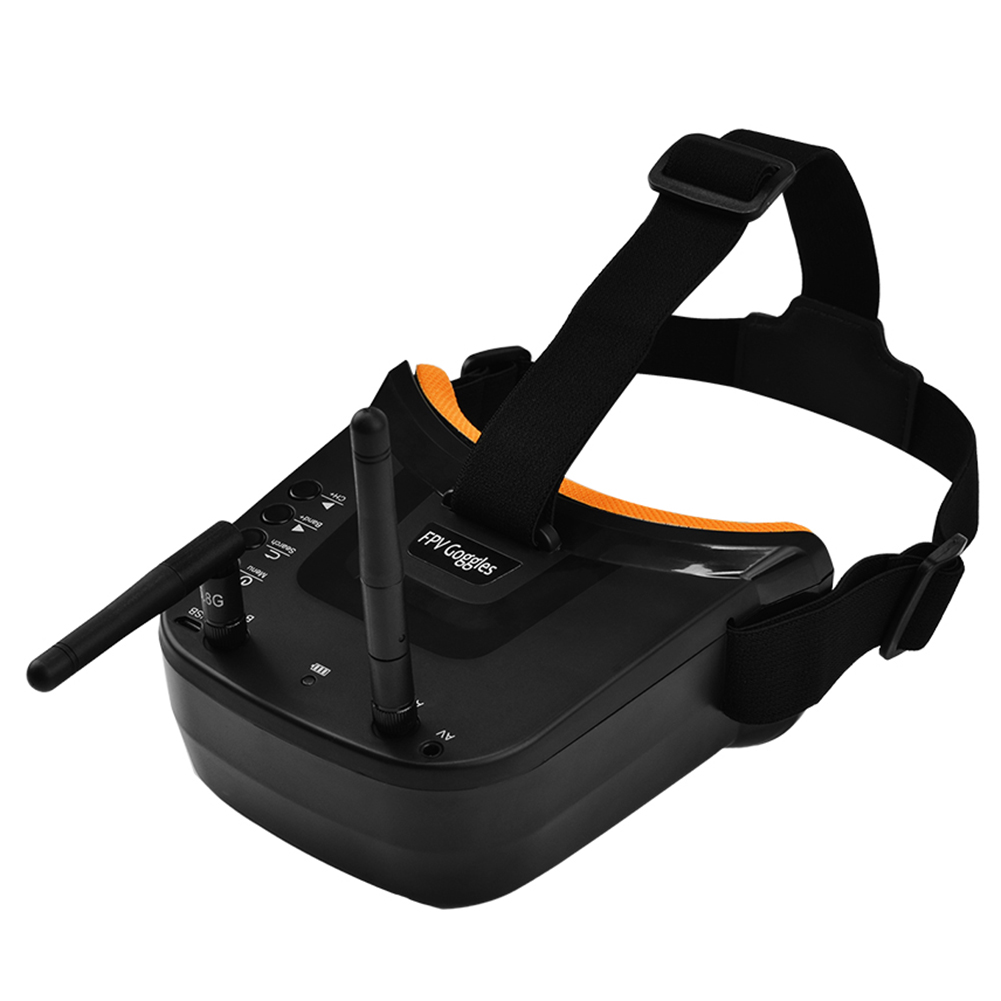 Mini FPV Goggles 3 inch 480x320 Display Double Antenna Reception 5.8G 40CH with Battery for RC FPV Racing Drone Quadcopter|FPV Goggles| |  - title=
