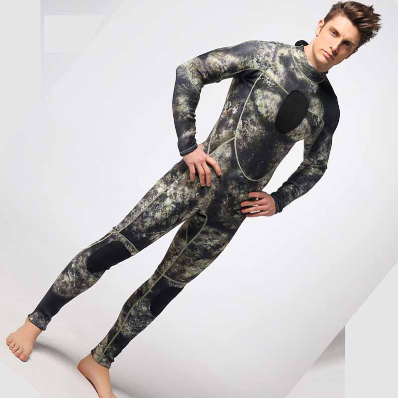 Men 3mm thick diving suit male full body dark color chest and knees thickening plate Men camouflage snorkeling swimming wearMen 3mm thick diving suit male full body dark color chest and knees thickening plate Men camouflage snorkeling swimming wear