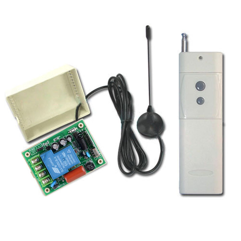 цены 3000M AC 220V 10A 1CH 315/433MHz RF Wireless Remote Control Power Switch Radio Controller Transmitter Receiver With Antenna