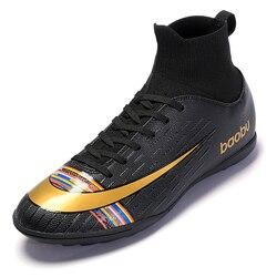 Dzieła Zero nowy dorosłych męska Outdoor Soccer knats buty wysokiej góry buty piłkarskie treningowe sportowe trampki buty Plus rozmiar 35-45