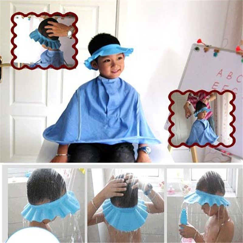 Mother & Kids Safe Shampoo Shower Bathing Bath Protect Soft Cap Hat For Baby Wash Hair Shield Bebes Children Bathing Shower Cap Hat Kids T Baby Care