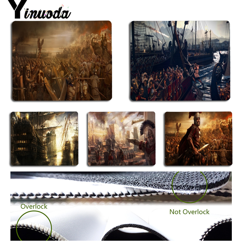 Yinuoda Total War Rome II Customized laptop Gaming mouse pad Size for 18x22x0.2cm Gaming Mousepads image