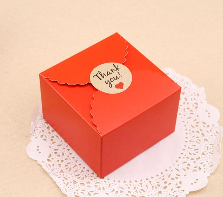 Kraft Gift Box Paper Packing Box Blank Gift boxes  red Paper Gift Craft  Blank Packaging Cardboard Boxes stuffed toy