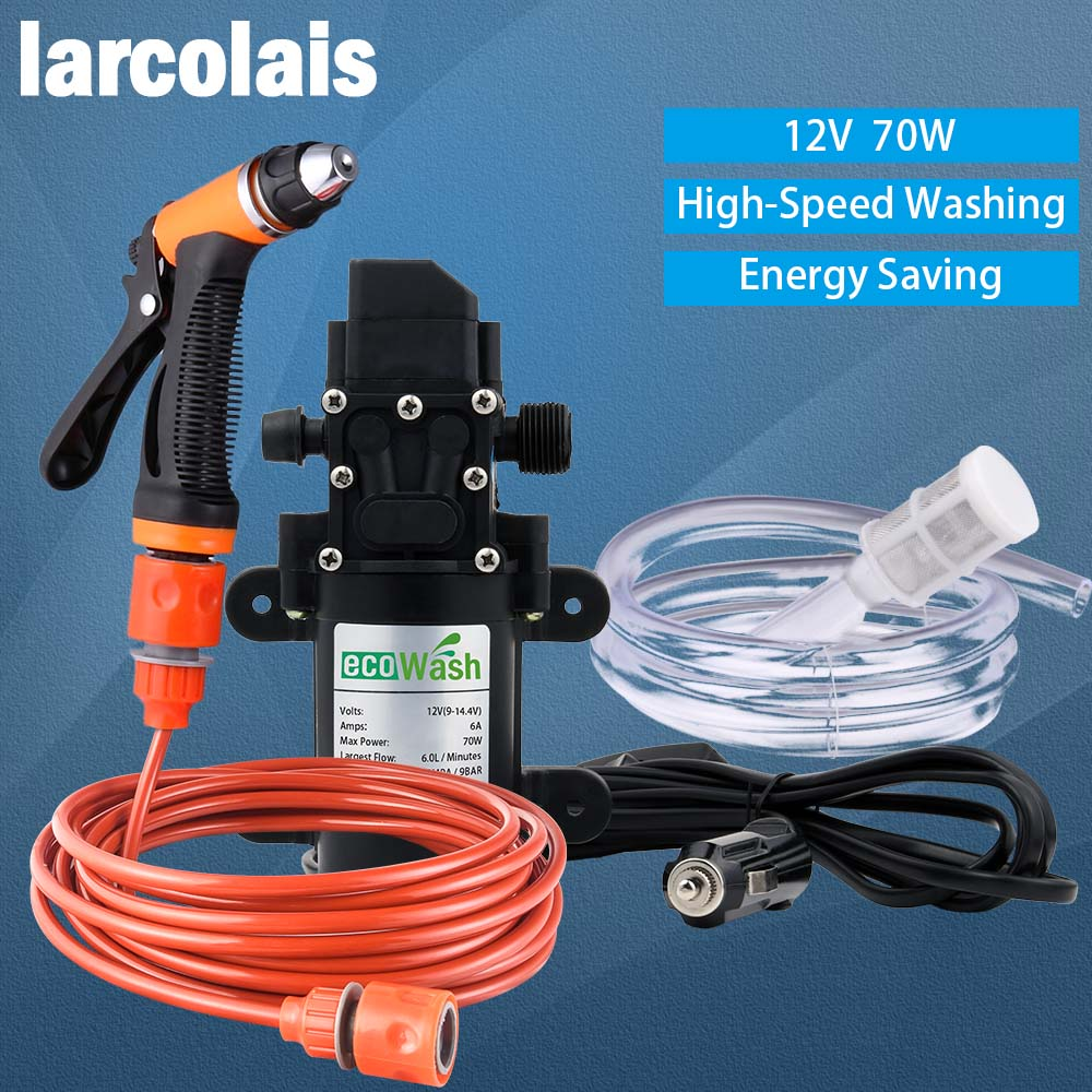 Car Wash 12V Car Washer Gun Pump High Pressure Cleaner Car Care Portable Washing Machine Electric Cleaning Auto Device(China)