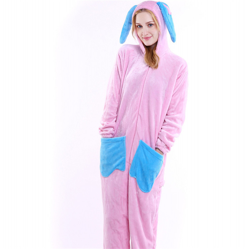 New Cartoon Rabbit Animal Sleeper Toilet Version Jumpsuits New Sleepsuit Adult Onesie Animal Jumpsuit Cos Costumes B-5806 ...
