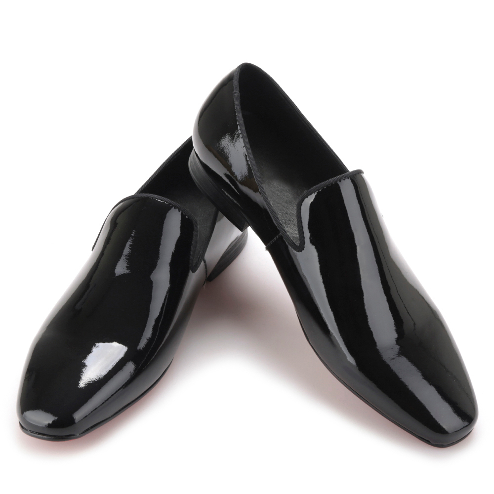 2017 New arrival Men black Patent Leather shoes Party and Wedding men dress shoes luxurious Handmade men loafers male's flats