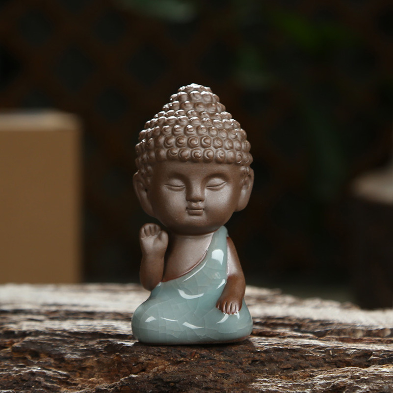 Little Buddha Mönch Statuen U0026 Skulpturen Tee Pet Ornamente Auto  Innendekoration Bonsai Dekor Statuette Indien Yoga Mandala In Little Buddha  Mönch Statuen ...