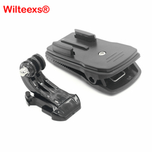 WILTEEXS Accessories 360 Degree Rotary Quick Clip Mount Hat Backpack Clips For GoPro Hero5 4 3+ 3 2 SJCAM SJ4000 XIAOYI Camera