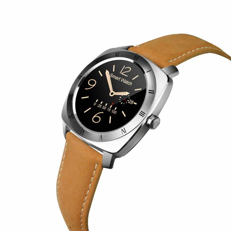 Kuddly DM88 tecnologia inteligente smart watch es android uhr echtem leder smart watch frauen smartwatch orologio donna