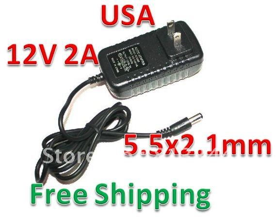 DHL Free Shipping 50pcs lot AC 100 240V to DC 12V 2A Power Adapter Supply Charger