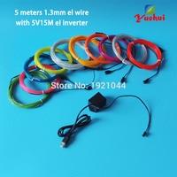 5 Metres 10 renkler Seçim EL Tel Parlayan Esnek LED Neon Işık kablo Tüp Ile 5 V USB el invertör Ev için Parti Dekorasyon