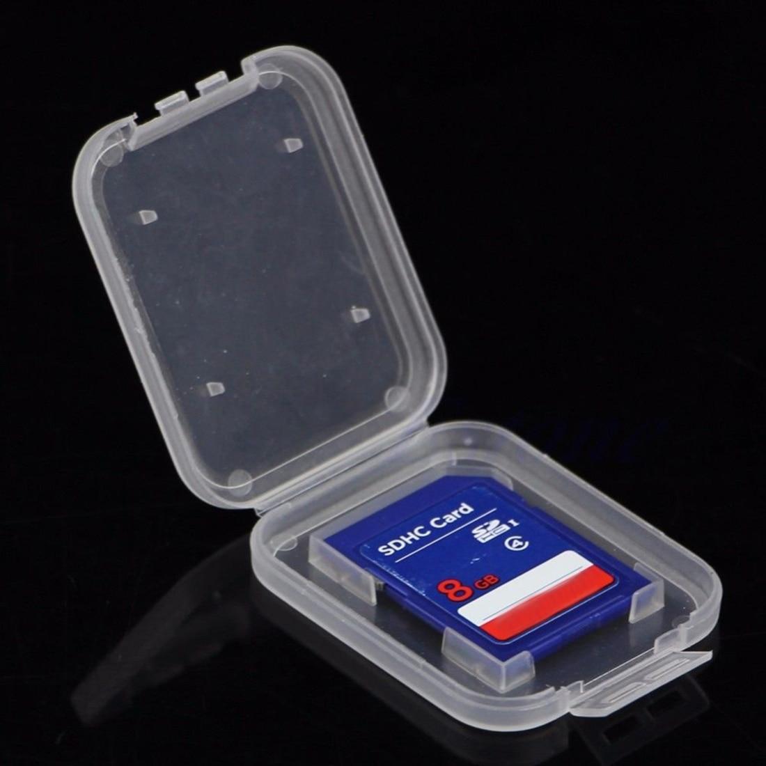 Image 2 - NOYOKERE Новый Лидер продаж 10 шт. SD SDHC держатель защитного кожуха карты памяти прозрачный пластиковый ящик для хранения-in Чехлы для карт памяти from Компьютер и офис