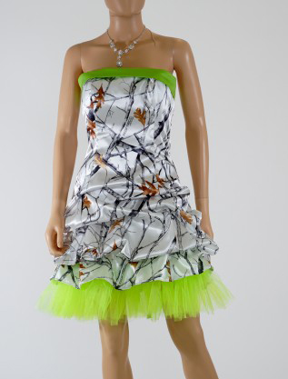 Free Shipping Strapless True Timber Short Camo Formal Prom Dresses