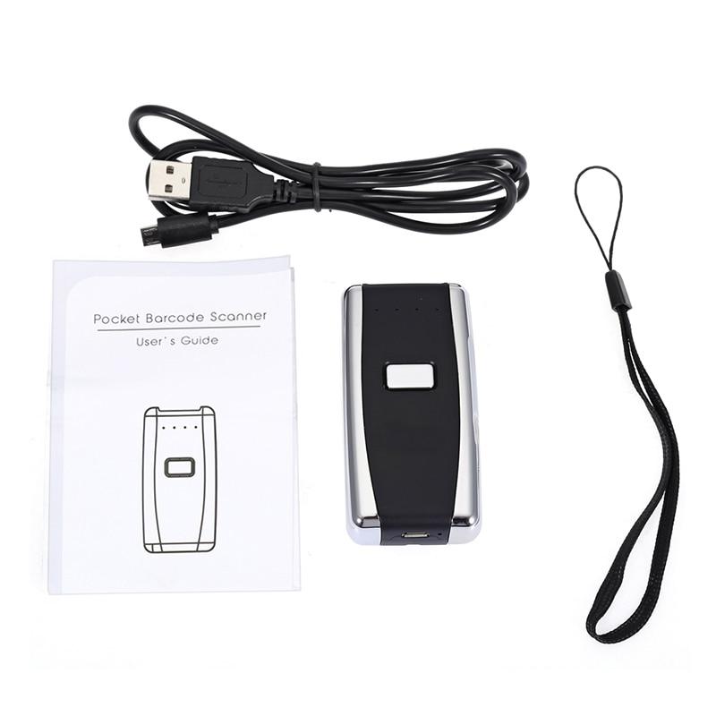Portable Pocket Wireless 2D Scanner QR Code Reader Bluetooth