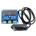 XH-M452 термостат контроль температуры и влажности термометр контроллер гигрометра модуль DC 12V светодиодный цифровой дисплей двойной выход