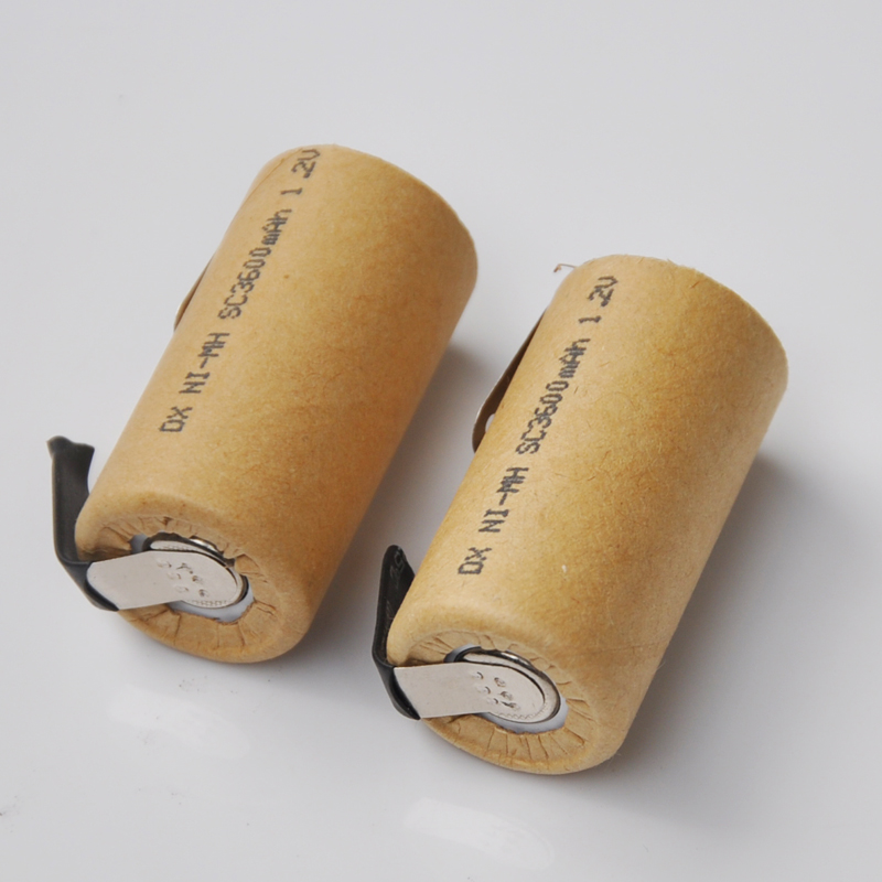 10-16pcs 1.2V SC rechargeable battery Sub C size 3500mah ni-mh ni mh cell with welding tab pin for electric drill vacuum cleaner