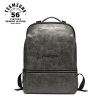 Европейские и американские Стиль Для мужчин Пояса из натуральной кожи рюкзак для ноутбука 17 дюймов большой кожаный рюкзак Водонепроницаем