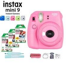 5 ألوان كاميرا Fujifilm Instax Mini 9 الفورية + 50 ورقة فوجي Instax Mini Film ورقة صور بيضاء + ماركر + عدسات مقربة + شريط
