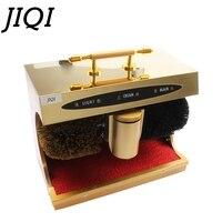 JIQI электрическая для ботинок очиститель удаления пыли яркая кожа уход полировщик Автоматическая обувь для чистки и полировки машина загру