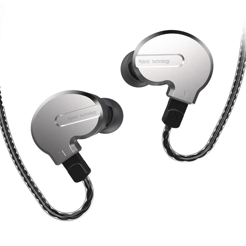 BQEYZ KB1 1BA + 2DD Hybride Dans L'oreille Écouteurs Intra-auriculaires HIFI Basse DJ Monito de Course Sport Écouteurs Boules Quies Casque Intra-auriculaires avec Mic