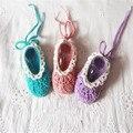 QYFLYXUE-zapatos de Bebé zapatos hechos a mano de punto de hilo zapatos del niño recién nacido 77