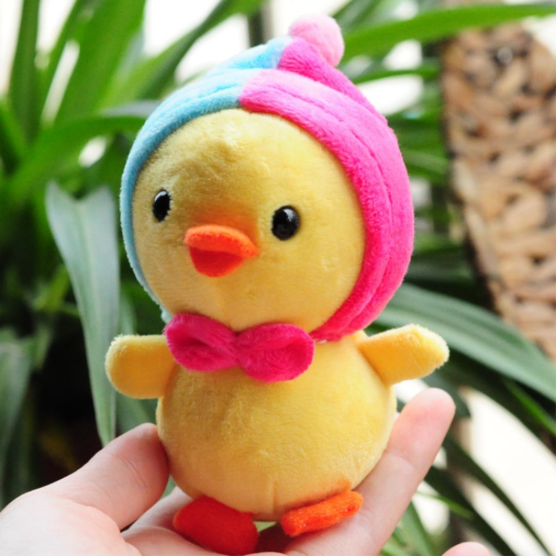 10cm Plush Little Yellow Chicken Stuffed Stitch Soft Doll Cute Cartoon Animal Plushing Toy For Children Keychain Pendant Plushs