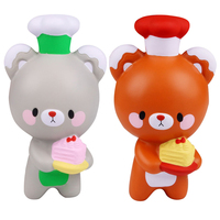 2017 New Kawaii Squishy Jumbo Chef Bear Slow Rising Reduce Pressure Stress Relief Kids Squeeze Toy
