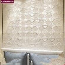 3D geometric pattern soft package wallpaper background bedroom living room kids waterproof anti-collision foam wall sticker
