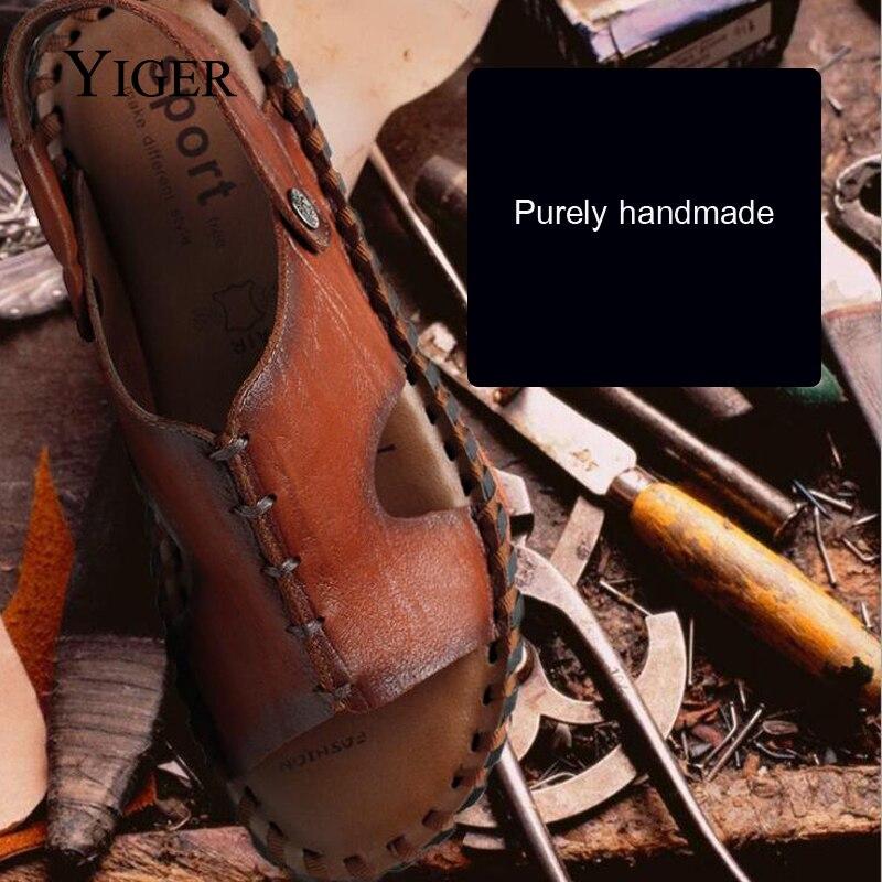 YIGER NEW Տղամարդու սանդալներ կոշիկ - Տղամարդկանց կոշիկներ - Լուսանկար 5