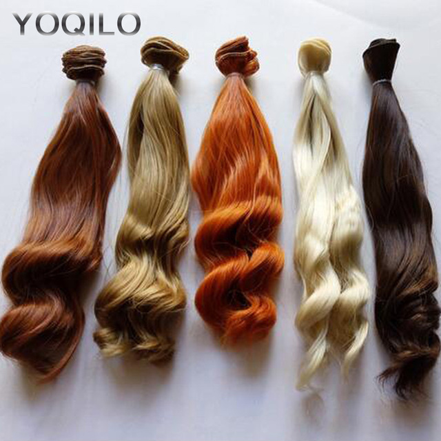 5PCS/LOT BJD Hair Curly 25CM Synthetic Hair For Doll Wigs DIY
