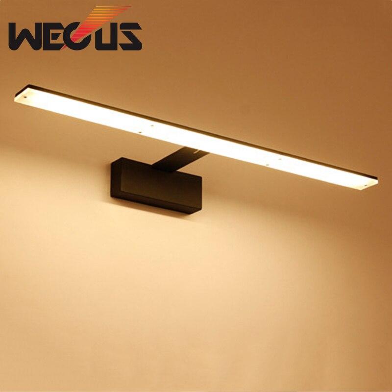 Nordic led badezimmer lampe schwarz/weiß spiegel licht acryl metall ...